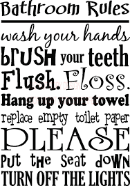 wall decals quotes quotesgram awesome collection of bathroom rules wall art on bathroom vinyl