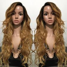honey brown hair with blonde ombre ombre honey blonde hair body wave glueless silk base lace front