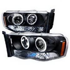 02 dodge ram headlights 02 05 dodge ram black housing dual projector led headlights