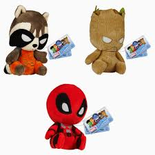 the blot says marvel mopeez plush figures by funko