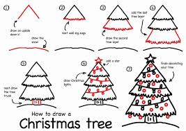 christmas tree drawing by step ne wall
