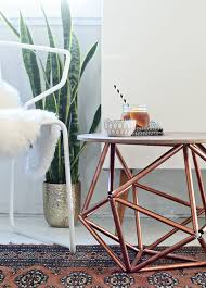 Diy Side Table Side Table With Himmeli Base From Copper Pipe