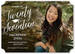 impeccable class 5x7 graduation announcements shutterfly