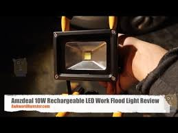 10w rechargeable flood light amzdeal 10w rechargeable led work flood light review youtube