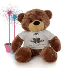 personalized graduation teddy size 4ft personalized 2017 graduation teddy mocha