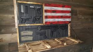 american flag gun cabinet burnt american red white and blue large concealment flag wooden