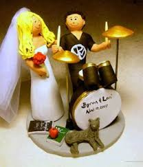 Drummer U0027s Wedding Cake Topper Drumming Wedding Cake Topper Sign