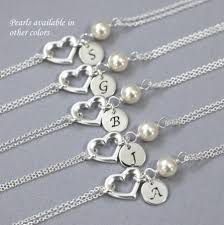personalized sterling silver jewelry personalized sterling silver heart and swarovski ivory pearl
