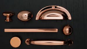 New Cabinet And Furniture Hardware With A Polished Copper Coating - Copper kitchen cabinet hardware