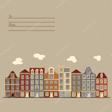 European Style by Universal Card With Old European Style Buildings Amsterdam Houses