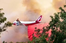 Wildfires California August 2017 by Supertanker To Assist With California Wine Country Wildfires
