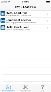 carmel software corporation hvac load plus ios app