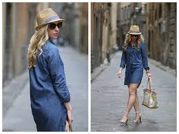 streets of firenze denim shirt dress lace up sandals u0026 lemon