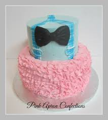 reveal baby shower pink apron confections gender reveal baby shower cake