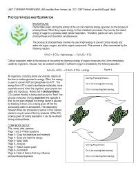 Photosynthesis Concept Map Photosynthesis And Respiration