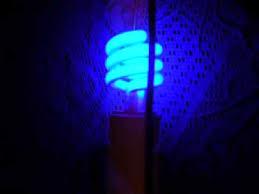 blue cfl light bulb