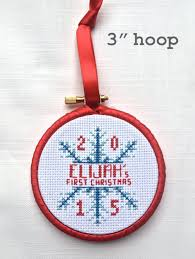 first christmas ornament cross stitch pattern snowflake