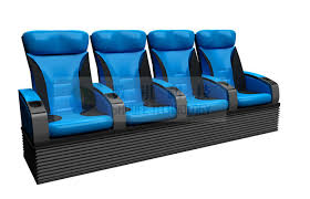 economical pu leather real leather 4 person movie theater seats