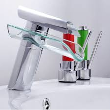stunning bathroom faucet advanced modern glass waterfall