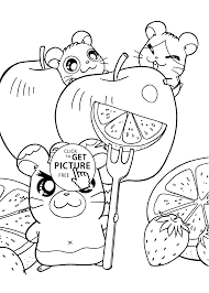 hamtaro anime coloring pages for kids printable free coloing