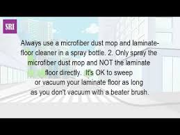 can you use a vacuum on laminate floors