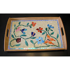 Decorative Dinnerware Decorative serving tray Mosaic glass