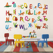 Alphabet Wall Decals For Nursery Nursery Abc Alphabet Wall Stickers Children Playroom Wall Decals