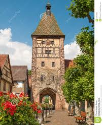 picturesque village of bergheim alsace france stock photo image