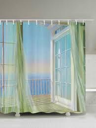 home decor specials finger spinner gyro shower curtains wall bath decor balcony seascape shower curtain white 200 180cm