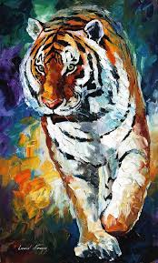 colorful tiger painting paint color ideas