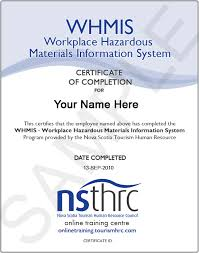 whmis certificate template go safety easy to use certification