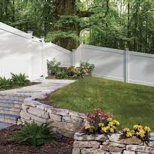 Home Depot Front Yard Design by Veranda Linden 6 Ft H X 8 Ft W White Vinyl Pro Privacy Fence