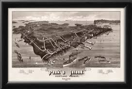 Maps Portland Maine by Portland U2013 Peaks Island Me 1886 Vintage City Maps Restored