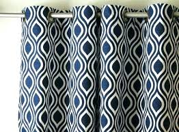 Navy Patterned Curtains Blue And White Drapes Stylish White And Navy Curtains And Navy