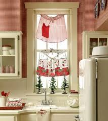 amazing christmas kitchen curtains for christmas kitchen