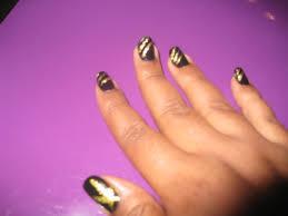 my monday manicure mac black and milani gold afrobella