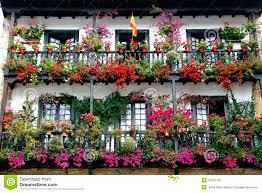 beautiful balcony beautiful balcony with flowers stock photo image 35270150