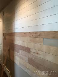 Tongue And Groove Shiplap Diy Shiplap Wall Easy Cheap And Beautiful Part 1 One Horse Lane