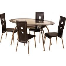 Black Glass Dining Table And 4 Chairs 4 Chair Kitchen Table Kitchen And Decor