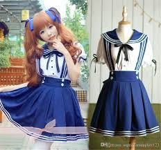 what hair styles suit braces lolita girls navy style white tops braces skirt casual sailor