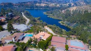 custom mediterranean estate on lake hollywood california luxury