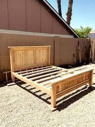 Diy Platform Bed Frame Twin by Best 25 Rustic Bed Frames Ideas On Pinterest Diy Bed Frame