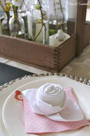 easter napkins and easter tablescape clean and scentsible