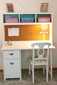 White Office Desk With Hutch compact girls white desk with etra hutch for many things to keep