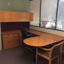 U Shape Desk Used Kimball Desks Orlando Used Maple U Shape Desk Florida U
