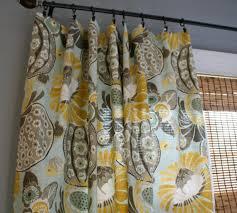 Yellow Drapery Waverly Copacabana Curtain Panels Custom Designer Drapery In