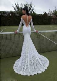 mermaid wedding dress sleeve sweetheart lace backless trumpet mermaid wedding dress