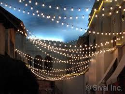Outdoor Suspended Lighting Commercial Grade Heavy Duty Outdoor String Lights 54 Ft 24