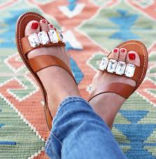 Most Comfortable Leather Sandals Diy Jeweled Sandals Jeweled Sandals Jewel And Sandals