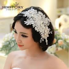 bridal hair accessories handmade lace wedding tiara rhinestone pearl bridal hair